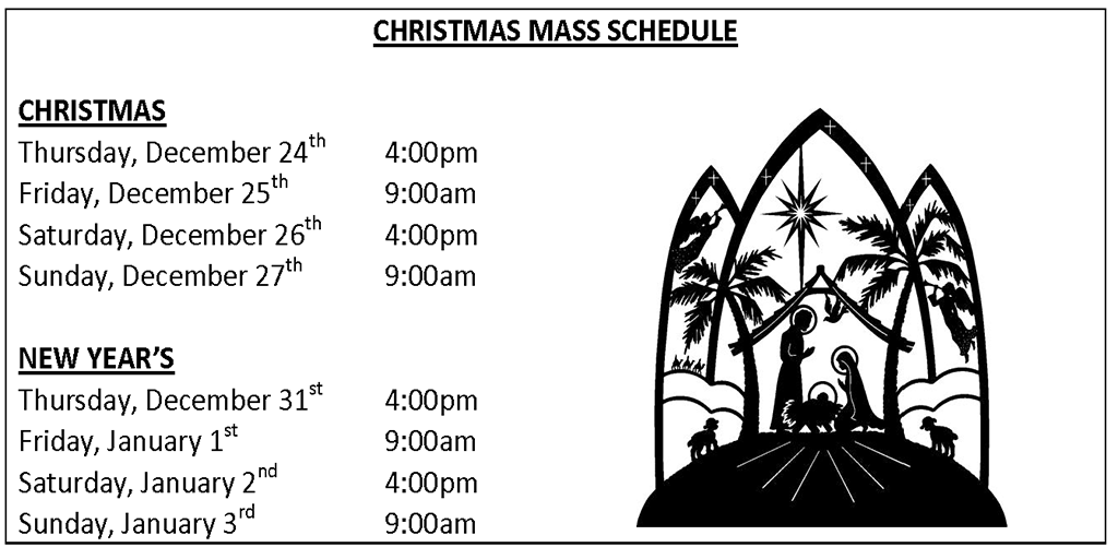 2015 Holy Trinity Christmas Schedule