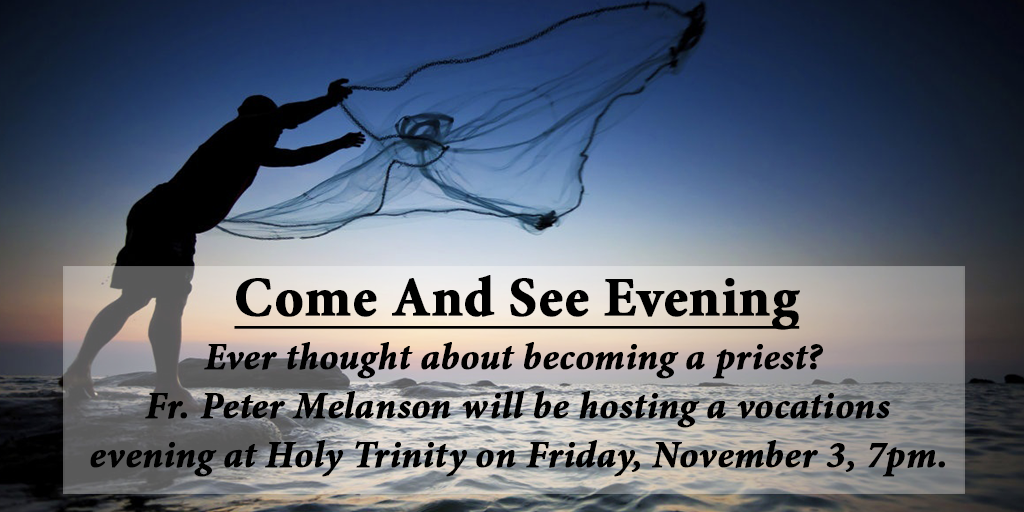 Vocations Evening - November 3 - Holy Trinity